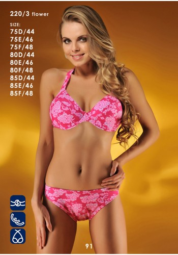 Купальник раздельный Katrin Розовый 220-3-flowerpink